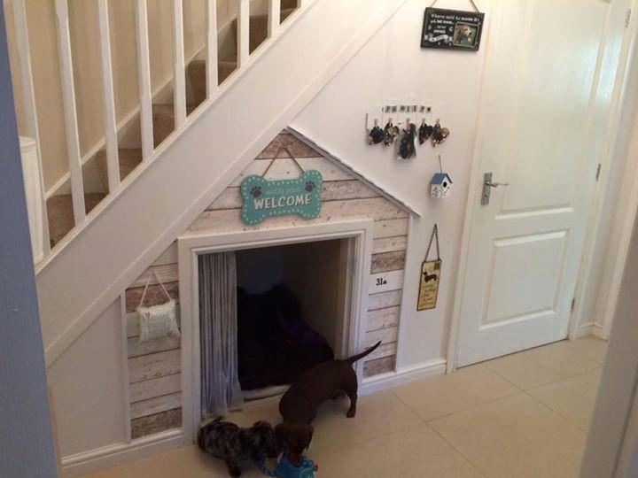 under stair dog nook