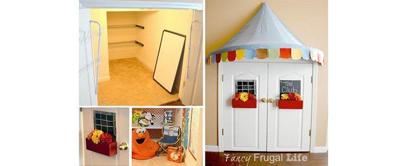 children's playhouse closet
