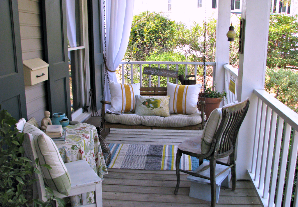 front porch staging