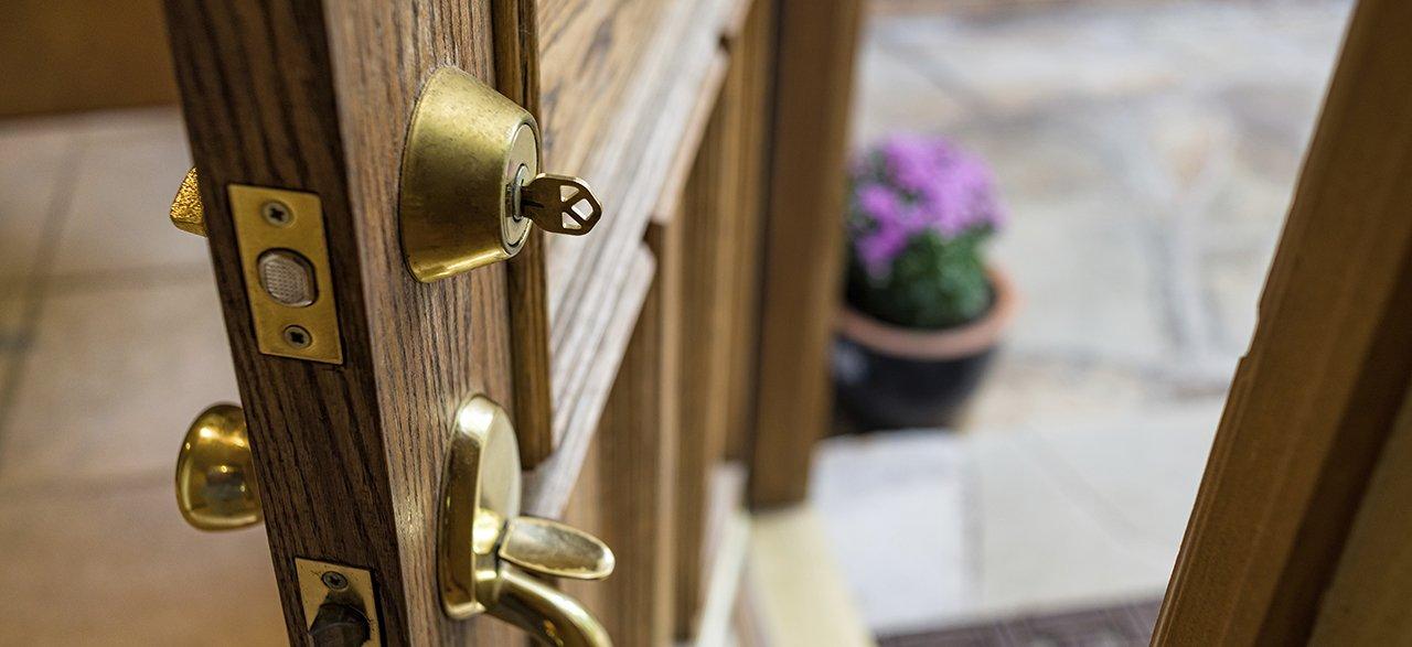 Welcome home - open front door